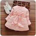 Novos vestidos da menina do bebê de inverno de espessura bebê vestidos na altura do joelho-comprimento vestidos para bebes baby girl dress 6by017