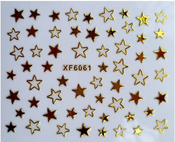 1pc Nail art 3D gold foil sticker short bride patch applique Nail Polish stickers golden stars sticker diy nail art tool