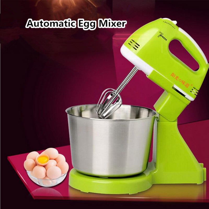 1.7L 180W Mini Automatic Electric Dough Mixer Egg Stirrer Baking Beat Egg Blender Cream Paste Stiring Whisk Dough Kneading manual kitchen stainless steel egg beaters whisk mixer cream baking blender 10 inch