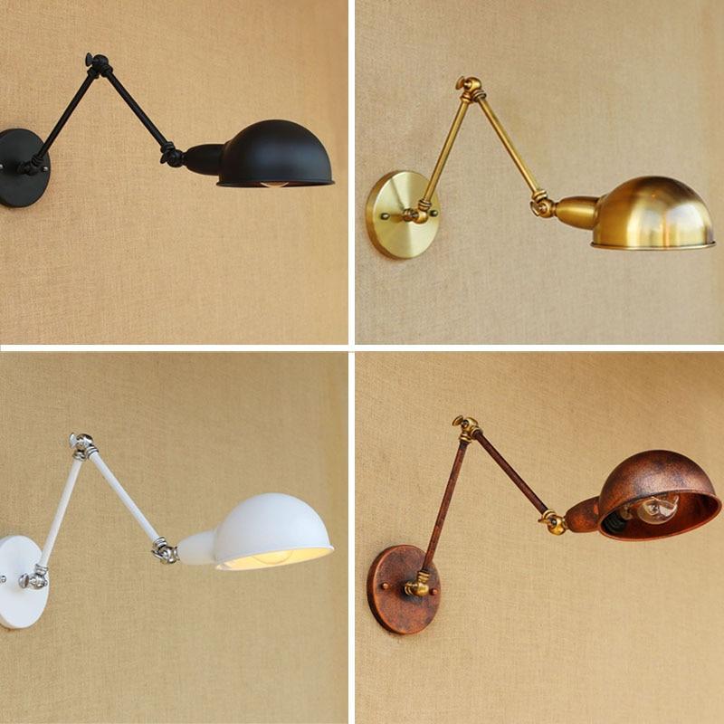 Регулируемый поворотный длинный настенный светильник винтажное Домашнее освещение Лофт промышленный настенный светильник светодио дный ...