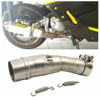 Motorcycle Modified slip on Exhaust Pipe For Yamaha XMAX X MAX 250 300 400 XMAX250 2017 2018 17 18 Two springs