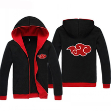 Прямая поставка Kpop Аниме толстовки куртка японский Наруто Акацуки красное облако зимняя Толстовка для мужчин спортивная Crossfit BlackRe