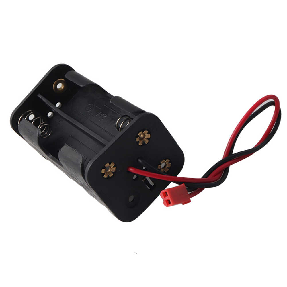 HSP 02070 Container Black Holder Battery Compartment AA Box Plastic Case For 1/8 1/10 RC Car