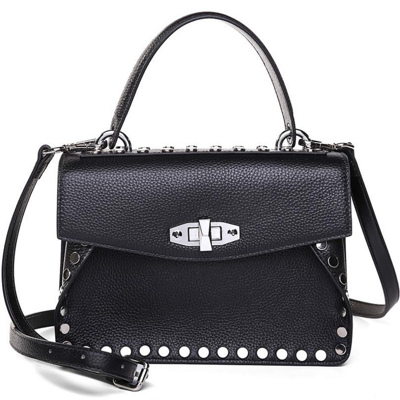 все цены на Real Cow Leather Ladies Women Genuine Leather Handbag Shoulder Bag High Quality Designer Luxury Brand Crossbody Bag Tot 18080715 онлайн