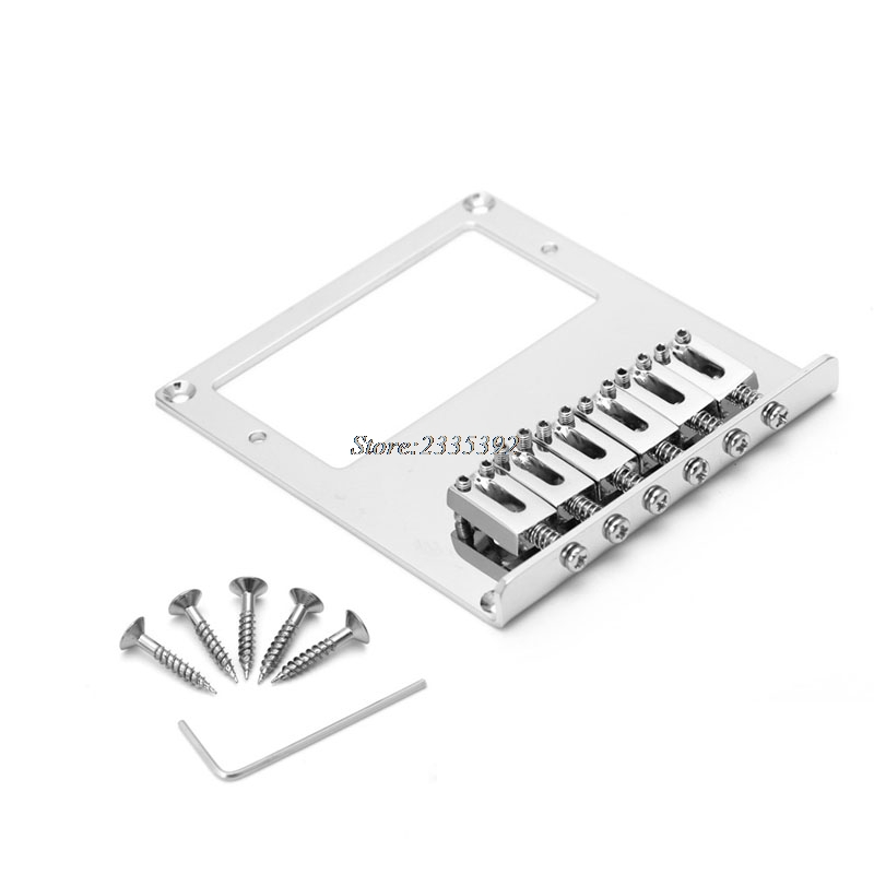1Set Bridges Tele Electric Guitar Bridge 6 String Square Saddle For Telecaster Guitar весы magnit rmx 6182