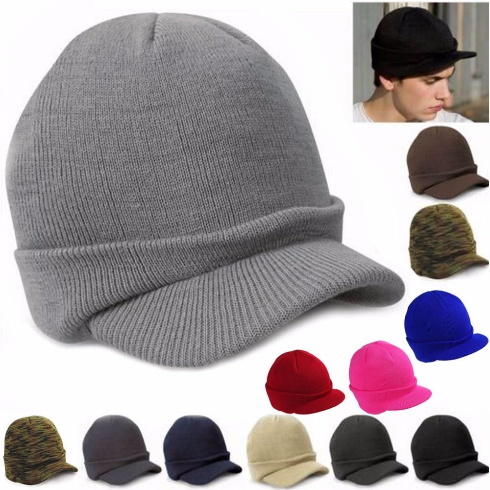 Men Women Caps Knit Baggy Beanie Oversize Winter Hat Ski Slouchy Chic Cap 2018 New