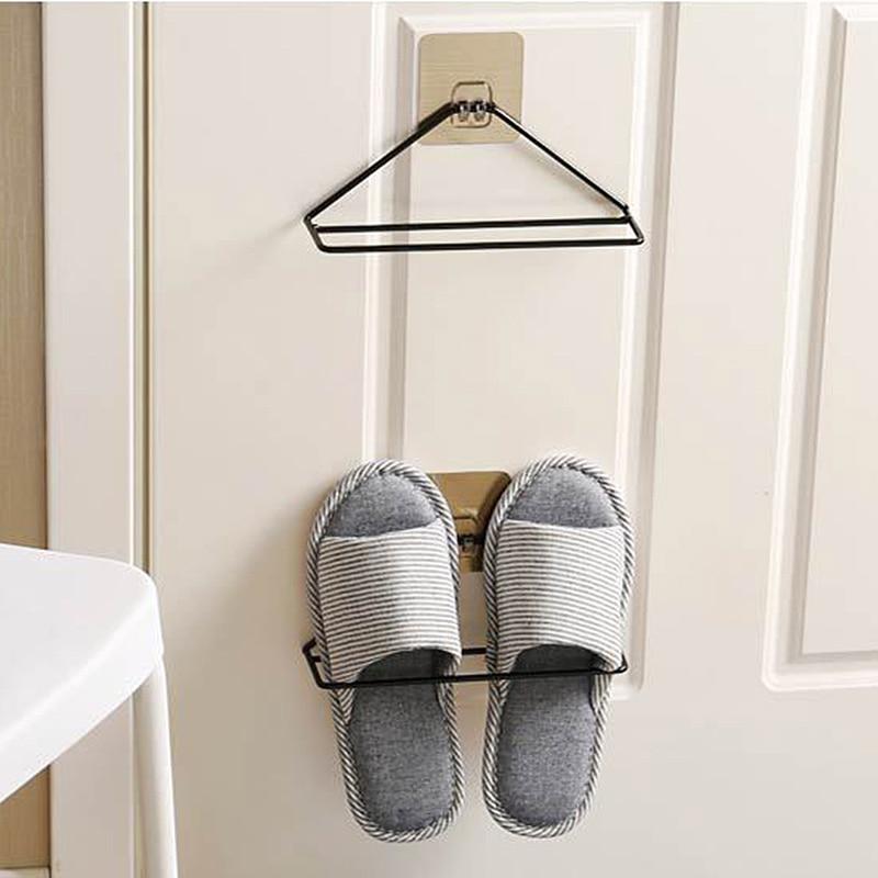 Iron Wall Type Triangular Shoe Rack Home Simple Shoes Shelf Creative Hanging Organizer Storage Bracket In Holders Racks From