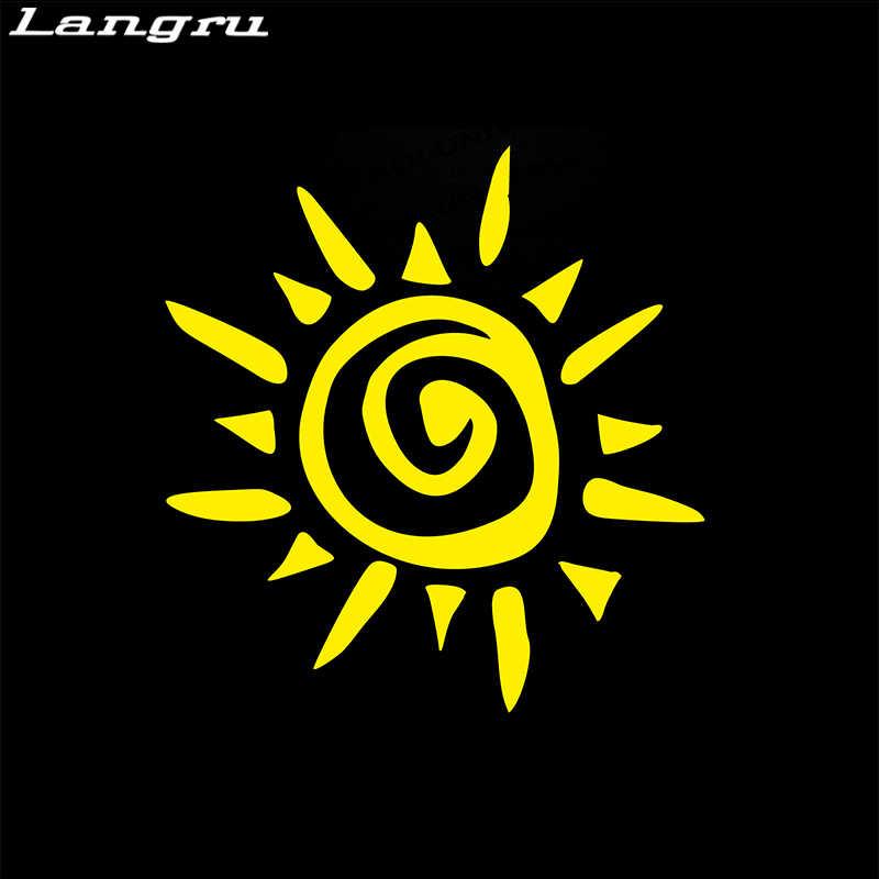 Langru этнический Солнечный наклейка на бампер наклейки для нанесения татуировок звезда родные Hieroglyph автомобильные аксессуары Jdm