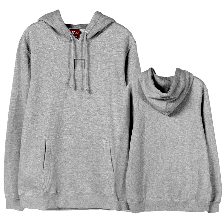 Kpop bangtan boys jin same simple square printing loose sweatshirt unisex autumn winter fleece pullover hoodies 4 colors