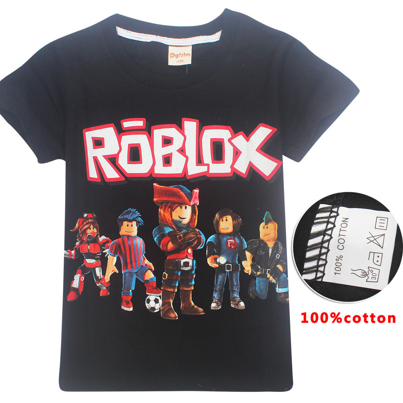Roblox T-shirts for teens boys tops 2018 summer black Fortnite game cartoon printed t shirts girls kids baby clothes 10 12 year