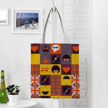 EXCELSIOR Cartoon Printed Women's Shoulder Bags Large Capacity Shopping Bag Customize Canvas Handbag Summer Beach Bag Bolsa 3