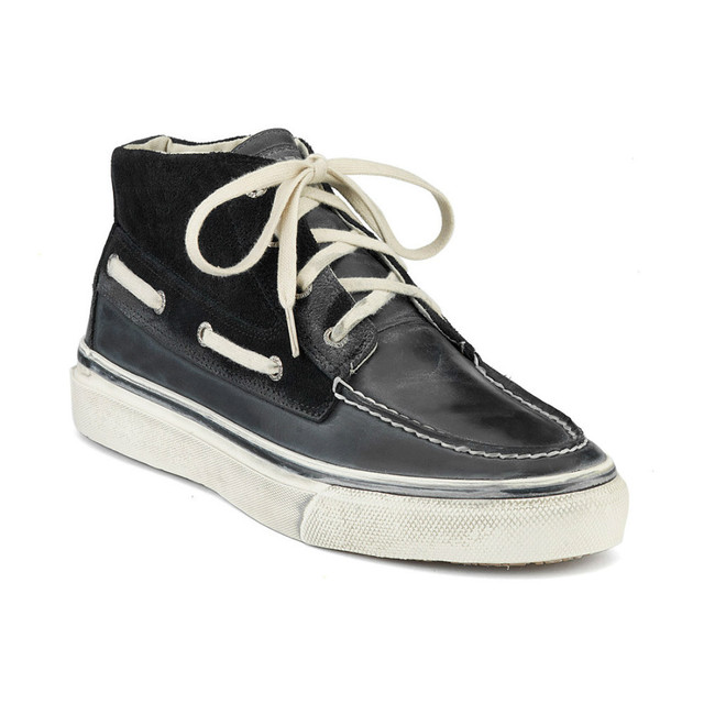 sperry top sider men s bahama black suede chukka boat shoes in