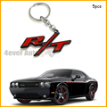(5) Red R/T RT Key Chain Fob Ring Keychain For Chrysler Dodge Jeep