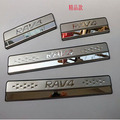 2013 2014 Rav4 Stainless Steel Door Sill Strip For Toyota RAV4 Car Styling Welcome Pedal Car Stickers Accessories 4pcs NO:R-1
