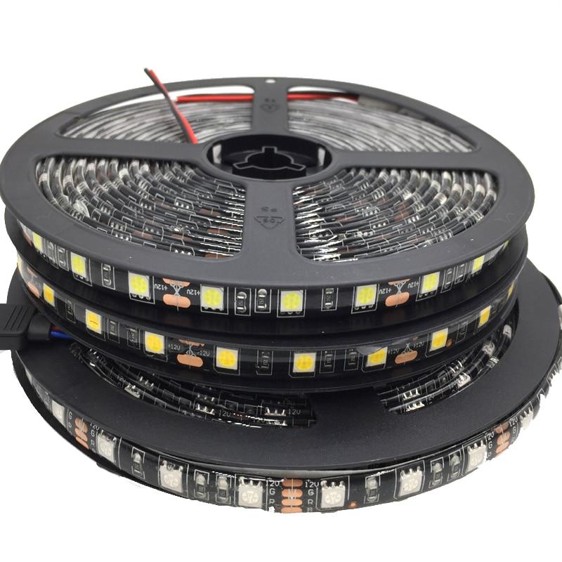 5050 Black PCB LED Strip IP65 Waterproofs