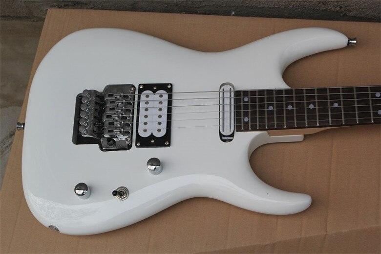 2019 nouvelle usine Firehawk blanc palissandre touche guitare électrique chrome matériel