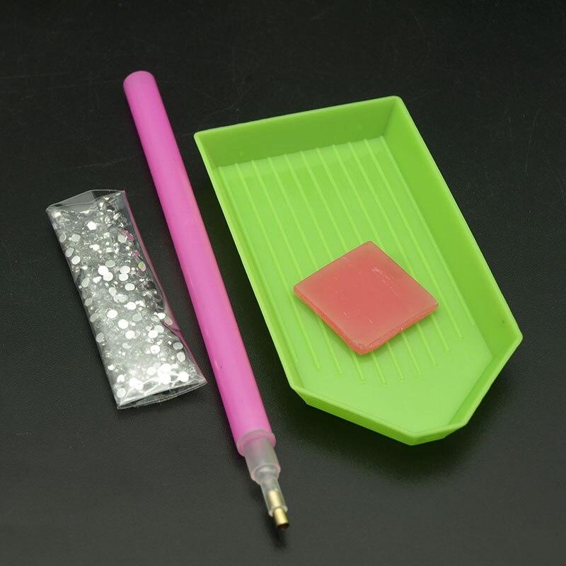 Fácil Prego 4 pçs/set Nail Art Strass Picking Pick Up Pen Tool + Argila + Prato pick up Caneta Contas conjuntos de jóias da arte do Prego