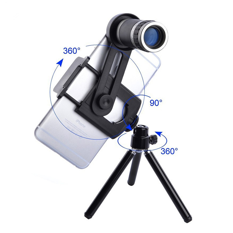 Universal Kit Phone Camera 8X Lens Zoom Telephoto Lenses Telescope With Clip Mobile Tripod Phone Holder For Cell Phone XIaomi