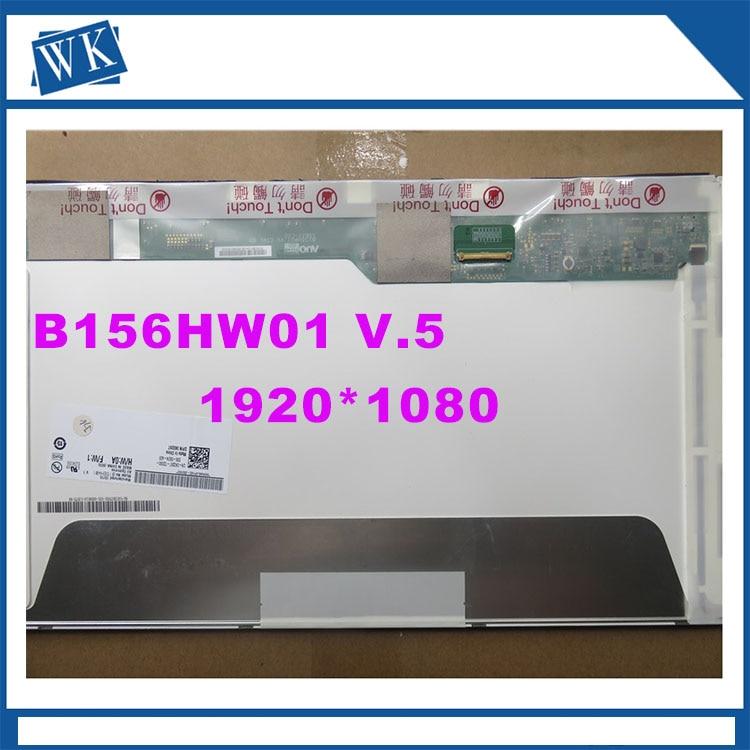 Free Shipping B156HW01 V.5 B156HW02 LP156WF1 TLB2 LTN156HT01 LTN156HT02 15.6LED 1920X1080 40PIN LCD Display Laptop Screen vga lcd contoller board kit for lcd desktop monitor diy a monitorb156hw01 v 0 b156hw01 v 4 b156hw01 v 7 lp156wf1 n156hge l11