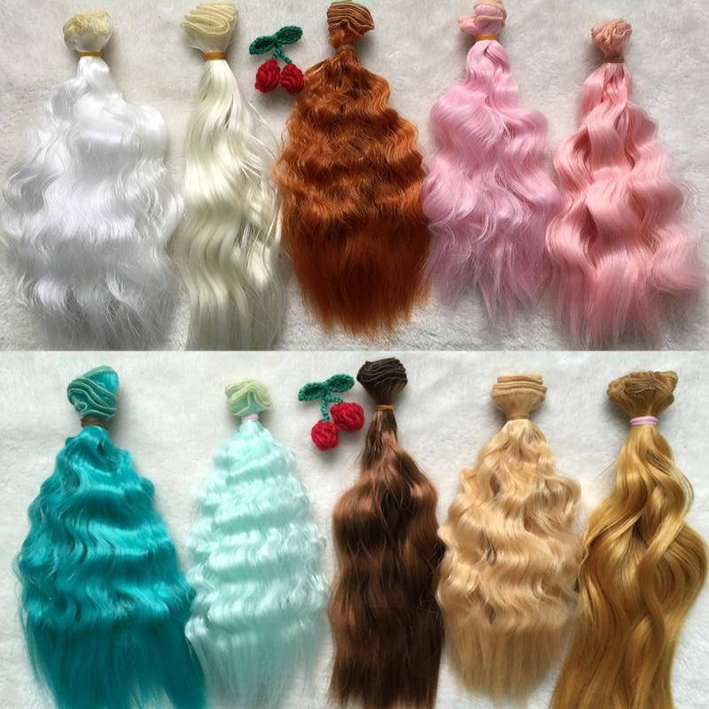 3pcs / lot BJD SD poupées accessoires bouclés poupée perruques à la main bricolage poupée cheveux