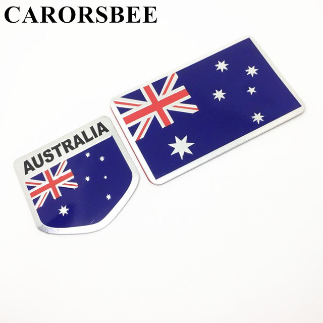 Carorsbee 3d aluminum australia logo national flag car sticker automobiles motorcycle auto tail door window stickers