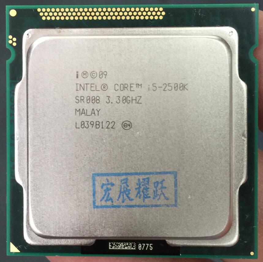 Prix pour Intel Core i5-2500K i5 2500 k Processeur (6 M Cache, 3.3 GHz) LGA1155 Bureau CPU Non verrouillage fréquence doubling100 % travail normal