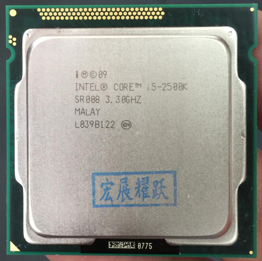 Intel Core i5-2500K  i5 2500k Processor (6M Cache,3.3GHz) LGA1155 Desktop CPU Non locking frequency doubling100% normal work wavelets processor