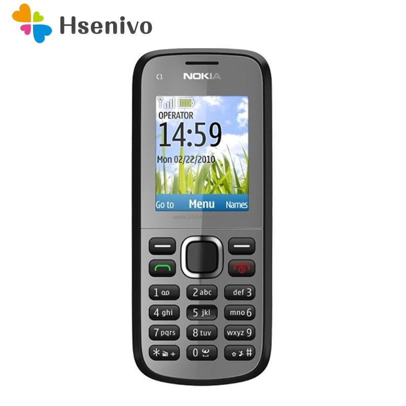C1-02 Nokia Original Unlocked C1-02 One Sim Card Mobile Phones GSM Bar Cellphones One Year Warranty  Refurbished