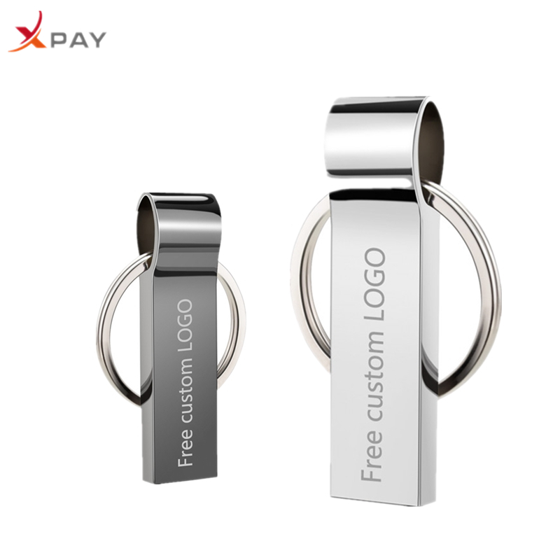 New Mini usb flash drive 2.0 Metal 32GB keychain pendrive 64GB 16GB 8GB 4GB waterproof portable 128GB usb stick Free Custom LOGO-in USB Flash Drives from Computer & Office