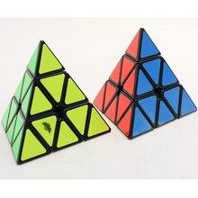 Cyclone Boys Pyraminx Plastic Magic Cube Black Hot Selling Educational Brain Teaser Twisty Toy for Children