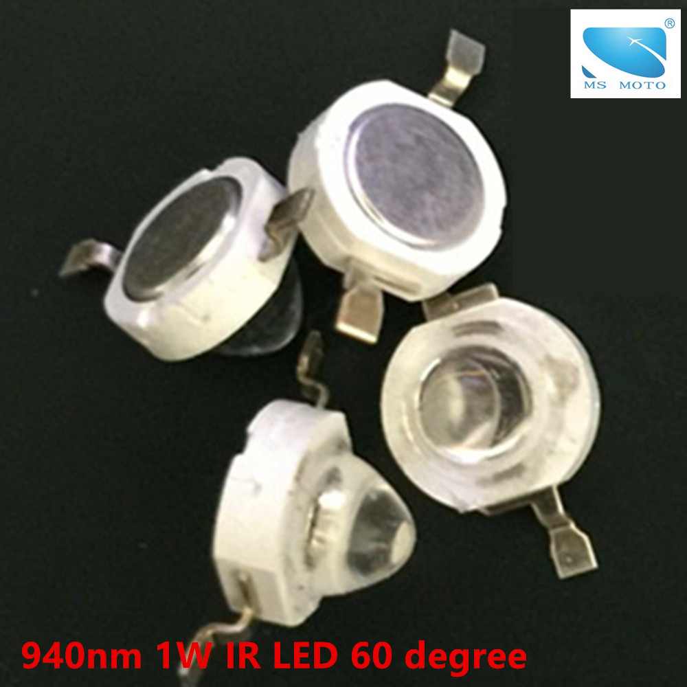 940nm Infrared LED 60 Degree IR LED Emitting Diode 1W Invisible IR For Security Camera Or Printer 40mil Chip High Power