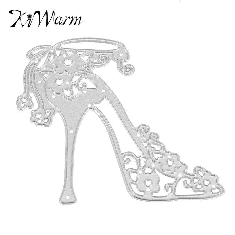 Kiwarm tacón alto zapatos metálicos decorativos scrapbooking papel ...