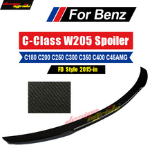 For Mercedes Benz W205 Tail Rear Spoiler Rear Trunk Wing FD Style Carbon For c180 c200 c250 c300 c350 c400 Spoiler Wing 2015-18 стоимость