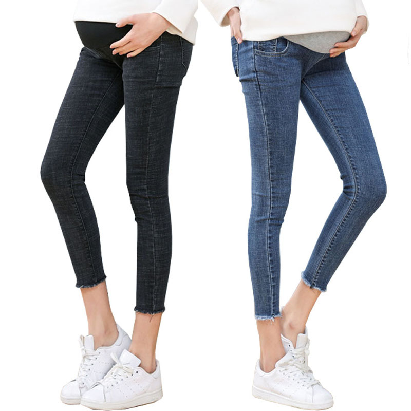 Maternity Clothes Ninth Pants Maternity Jeans For Pregnant Women Clothes Skinny Denim Stretch Jeans Pregnancy Pant Spring Summer