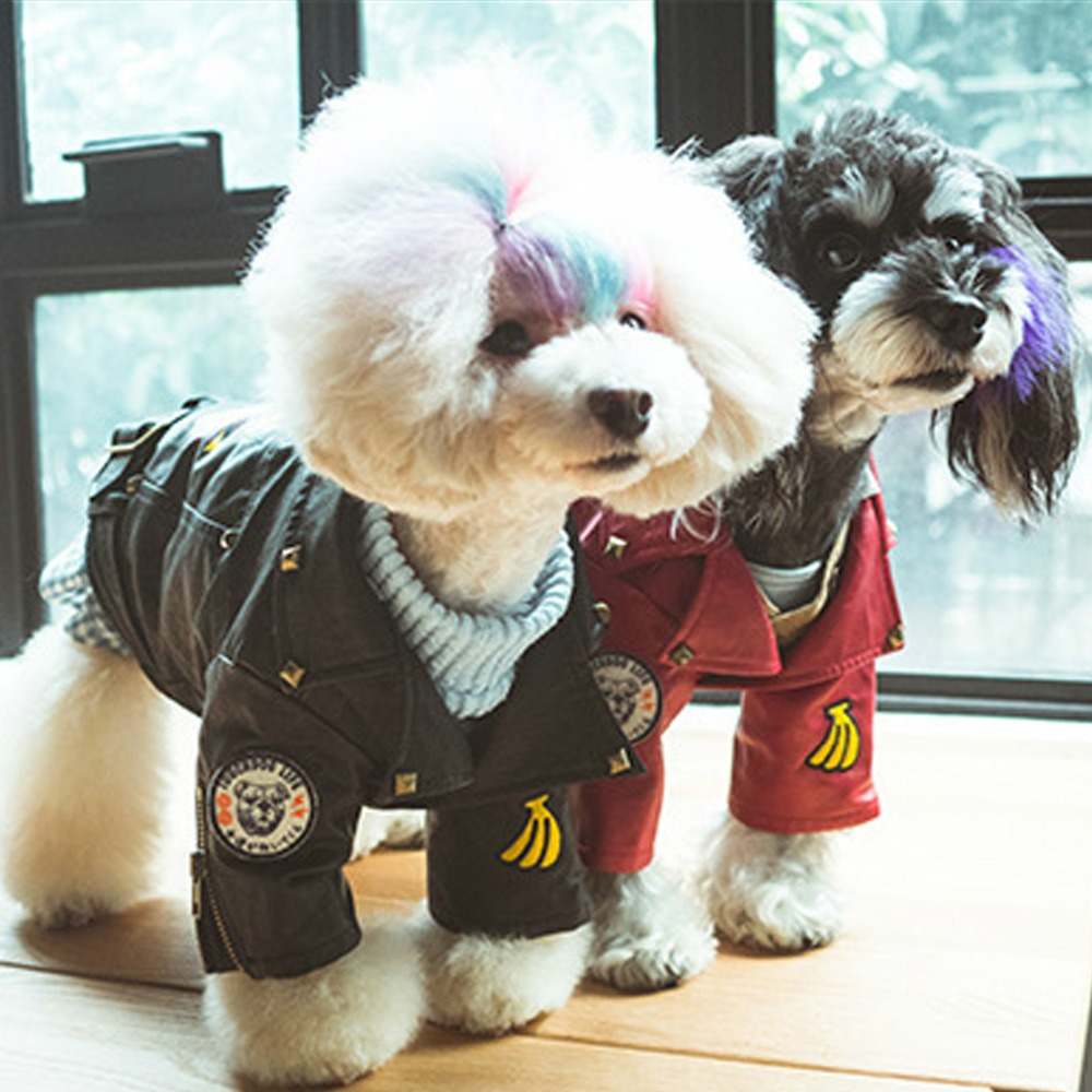 Leather jacket for dogs - Dog Pet Leather Coat Jacket Pet Puppy Costumeautumn Winter Dog Clothes Apperal China