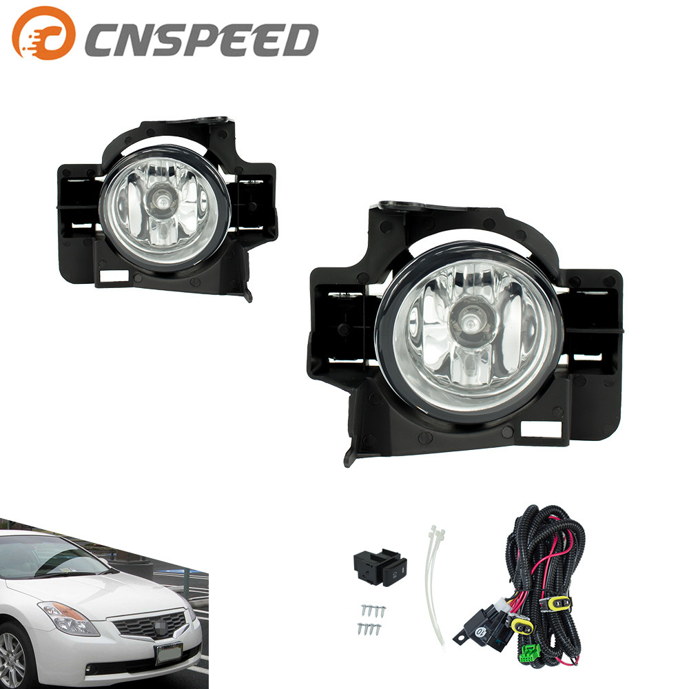 CNSPEED Fog light for NISSAN ALTIMA 2008-2009 2D Fog lamp Clear Smoke Lens Bumper Fog Lights Driving Lamps Daytime Running Light 1set front chrome housing clear lens driving bumper fog light lamp grille cover switch line kit for 2007 2009 toyota camry
