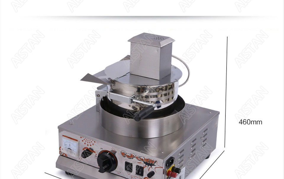 VBG701/VBG702 commercial stainless steel single head/double head gas popcorn machine for kitchen equipment 4