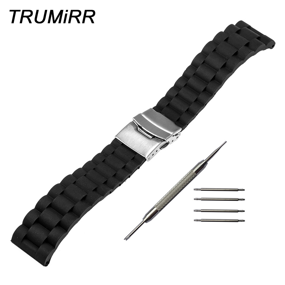 Silicone Watchband 17mm 18mm 19mm 20mm 21mm 22mm 23mm 24mm for Tissot 1853 T035 <font><b>PRC200</b></font> T055 T097 <font><b>Watch</b></font> Band Rubber Wrist Strap image