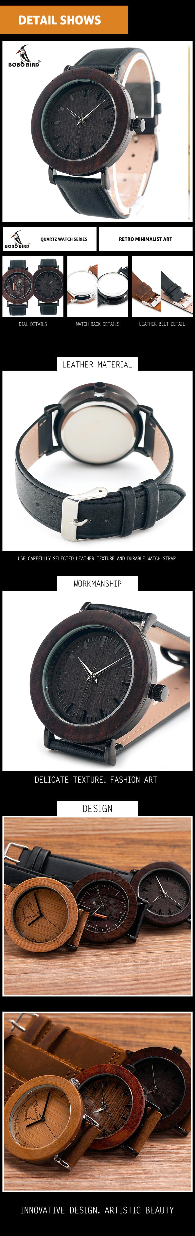 BOBO BIRD Wood Wristwatch Women Watches Genuine Leather Band relogio feminino C-K17 (16)
