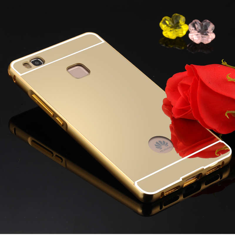 huawei p9 rose gold price. aliexpress.com : buy for huawei p9 lite case luxury plating aluminum metal bumper mirror pc back cover meaford phone fundas from rose gold price