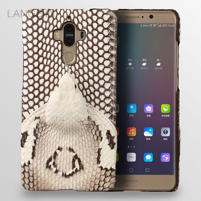 wangcangli brand phone case real snake head back cover phone shell For Huawei Mate 9 full manual custom processingwangcangli brand phone case real snake head back cover phone shell For Huawei Mate 9 full manual custom processing