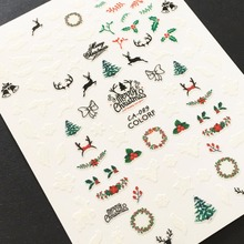 Newest CA-89 Christmas design 3d nail sticker decal Japan type DIY decoration tools