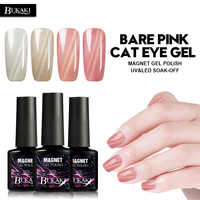 BUKAKI Pink Cat Eye Nail Gel Polish Hybrid Painting Gel Lacquer Magnetic Varnish Need Strong Magnet Cat's Eye Gel Polish