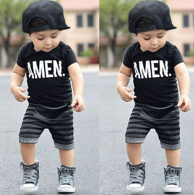 2 pcs. Children Toddler Children Boy Top T-Shirt + Shorts Trousers Tops Fashion New 2017 Costumes Clothes Set Summer ST235 женские часы adriatica a3464 1113q