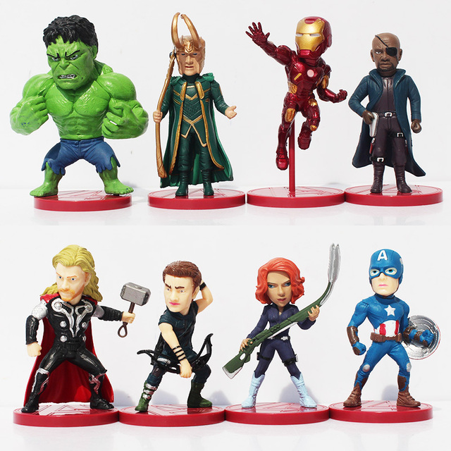 8 pz set set set WCF Avengers 2 Età di Ultron Figura I Giocattoli IN PVC 407bb9