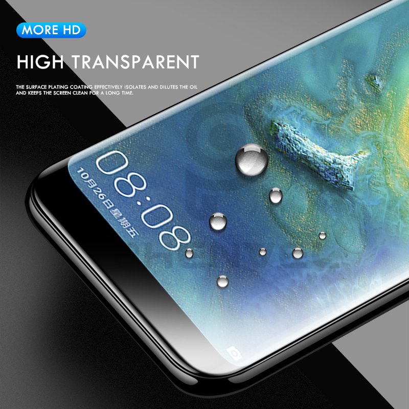 0 1mm hydrogel film for huawei mate 20 Pro X 3D invisible Screen protector mate 20 P20 Lite Curved Protective Gel film in Phone Screen Protectors from Cellphones Telecommunications