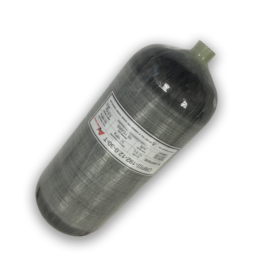 AC3120 High Pressure Cylinder 12LGB 300Bar 4500Psi  Carbon Fiber Air Cylinder PCP Air Gun Tank Oxygen Cylinder Pcp Rifle Acecare