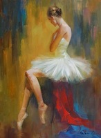 Frameless Canvas Painting Ballet Dancer Impressionist Artwork Women Dancer Oil Painting Home Decor At Gifts Wall Arts