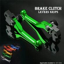 CNC Aluminium Dirt Bike Motocross Pit Bike Pitbike Bremse Kupplung Hebel Für Kawasaki KLX450R 2008 2009 klx 450r