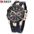Silicone Straps Men Watches Curren Famous Brand Men's Quartz Watch Casual Relogio Wristwatches Man Sport Watch Male Clocks 8163